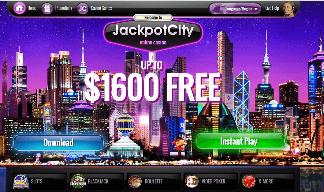 jackpot online city casino