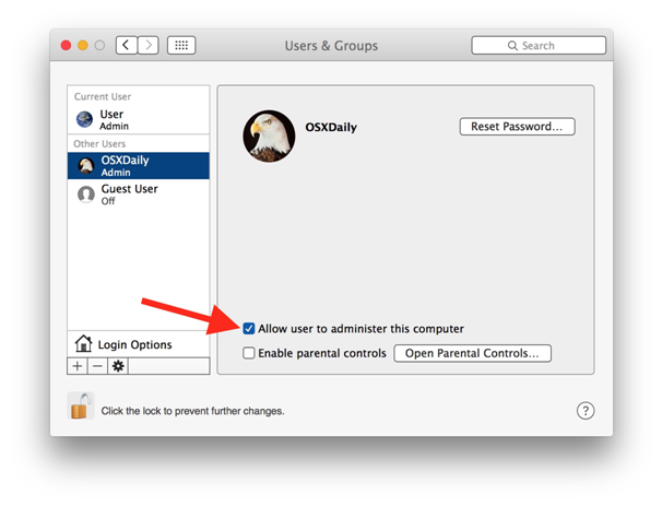 Changing user name in MAC