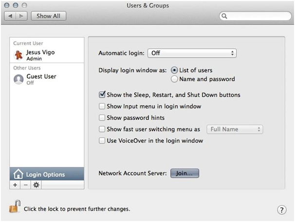 Users and Groups Mac