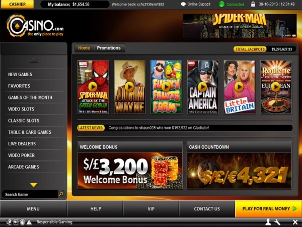 online flash casino mac