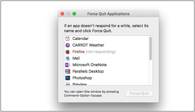 force quit apps