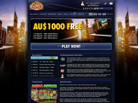 spin palace flash casino online