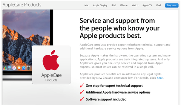 Apple care- New Zealand