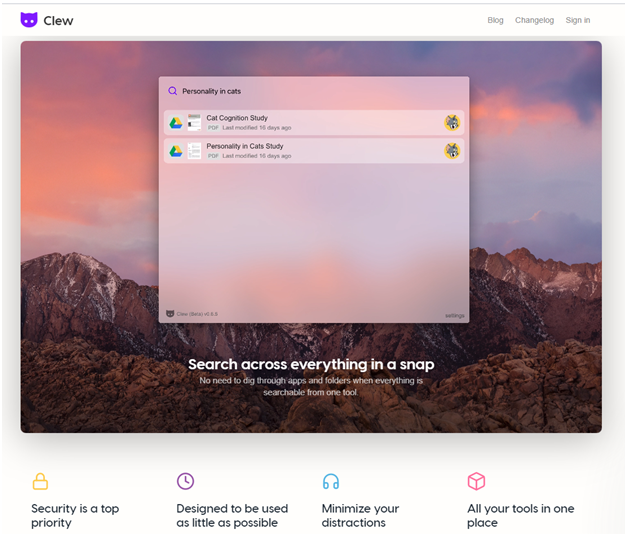 Clew app for Mac