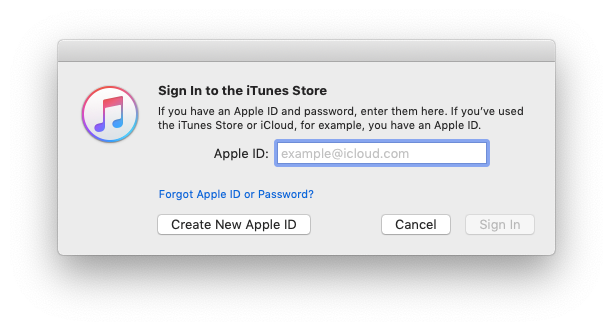 Create Apple ID with iTunes
