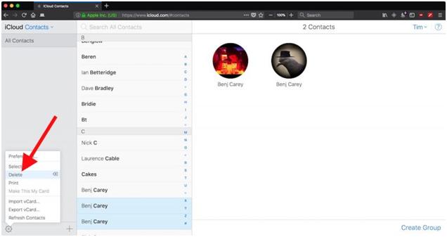 Duplicate contacts in Mac