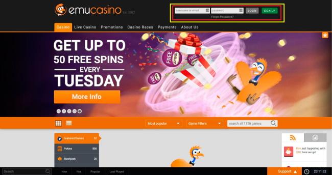 Emu Casino for Mac