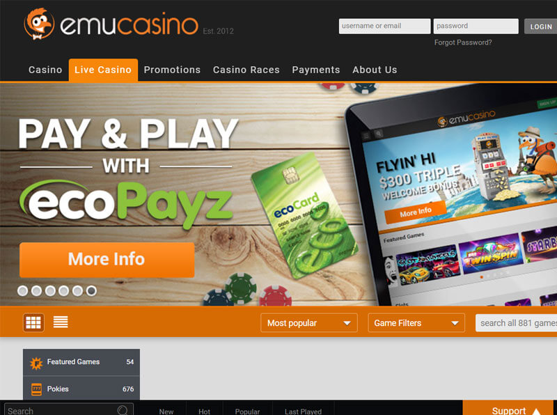 Emu Casino for MAC