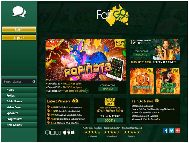 Fair Go Casino- Play real AUD pokies on MAC