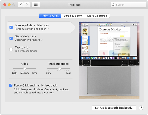 Trackpad in Mac