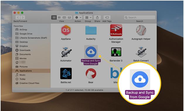 Google Drive Menu Bar Icon on Your Mac