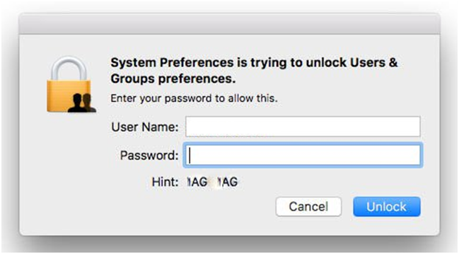 System preference in Mac