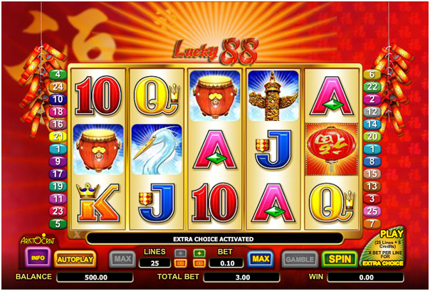 Lucky 88 pokie app machine game