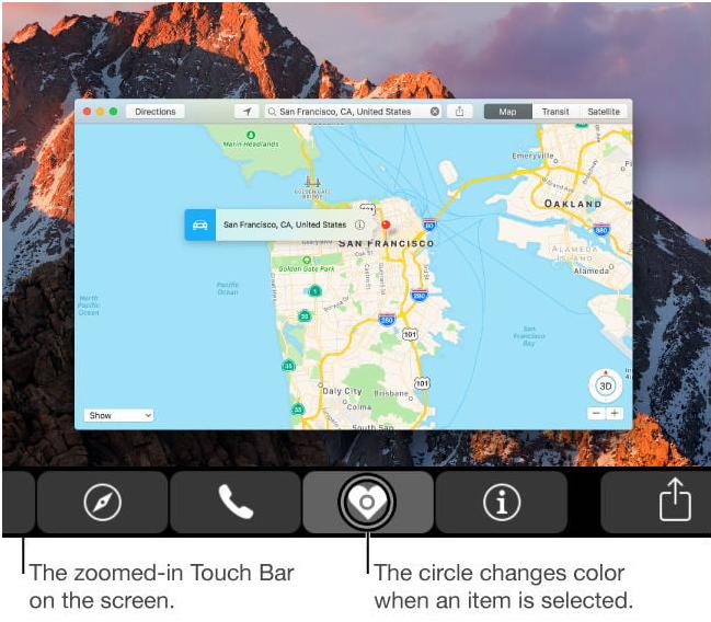 Touch Bar- Mac Zoom