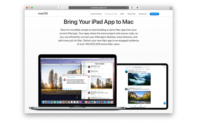 Apps now on Mac OS