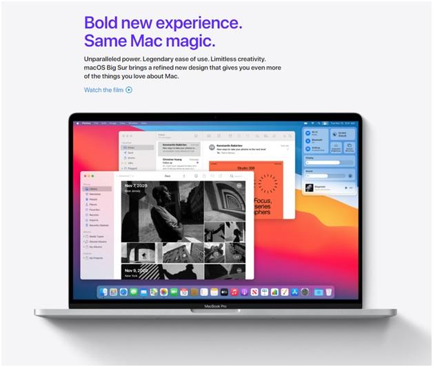 MacOS BigSur- Design