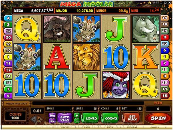 Mega Moolah pokies game