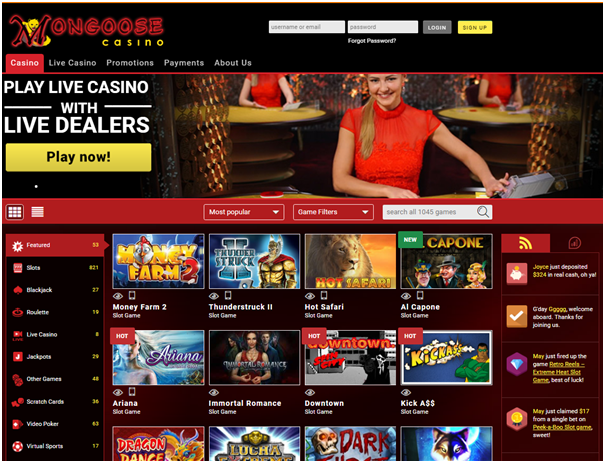 Mongoose casino Mac