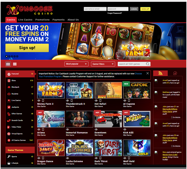 How to get started at Mongoose casino