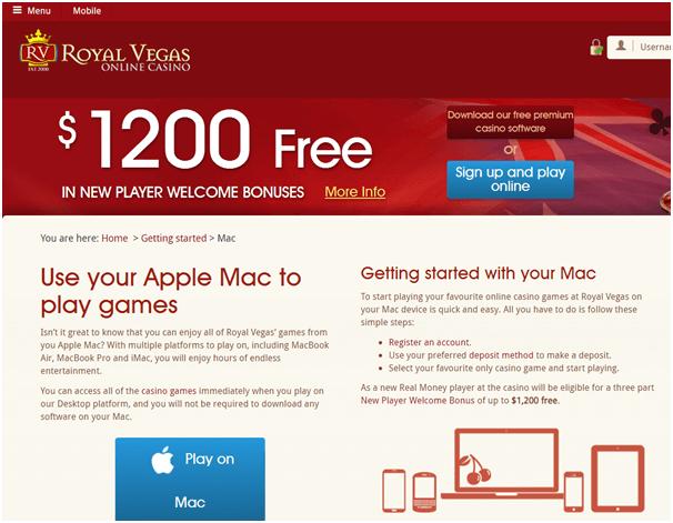 Royal Vegas Mac