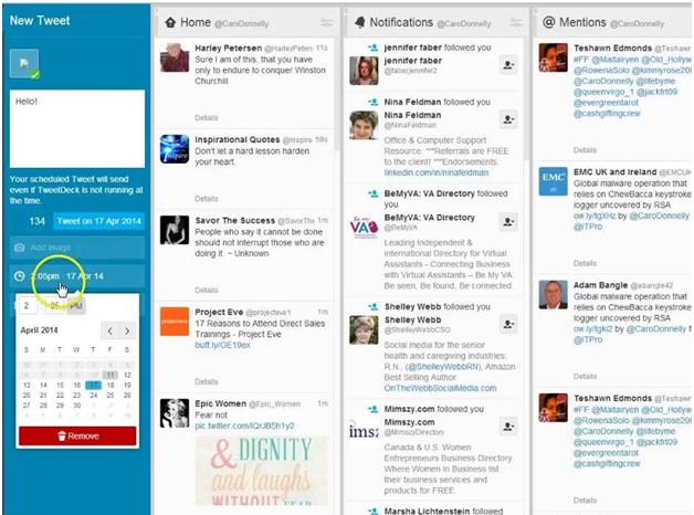 Tweetdeck app