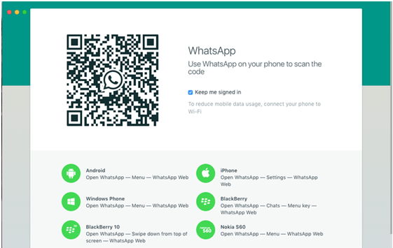 Whats app on Mac