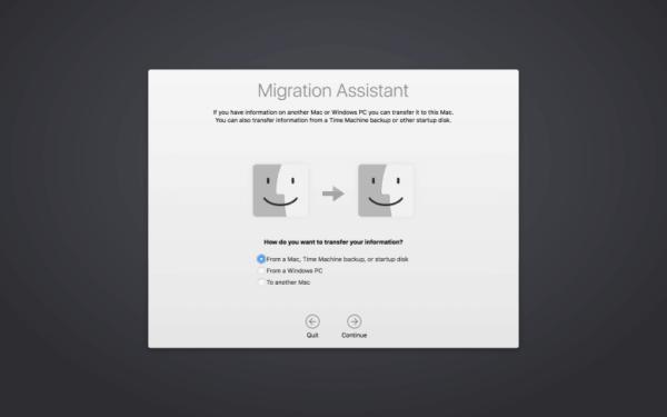 macbook setup assistant